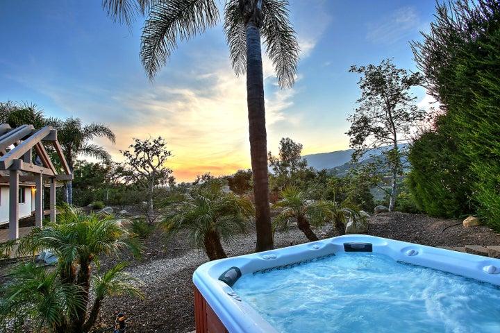 Hot tub views at sunset