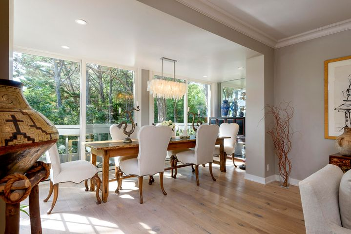 Dining room with garden views