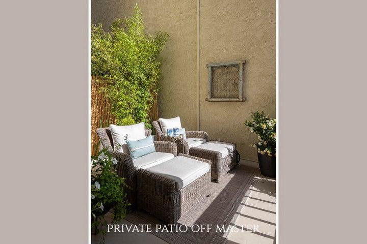 Private patio off master