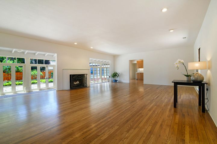 Large Living Room and Wood Fireplace