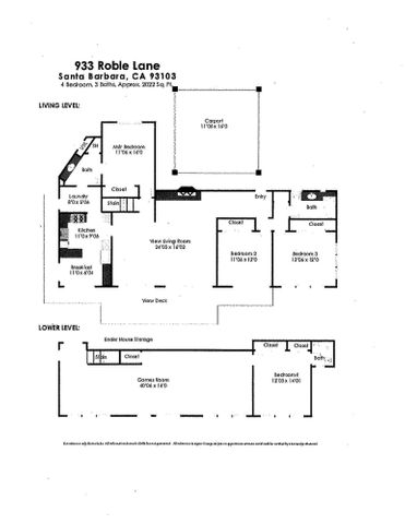 933 Robles Lane Floor plan