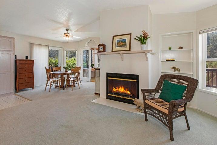 Cozy Wood-Burning Fireplace