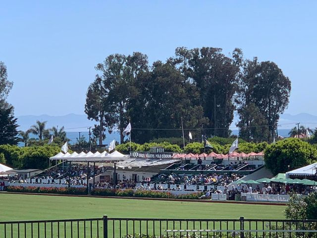 View of grandstand from patio