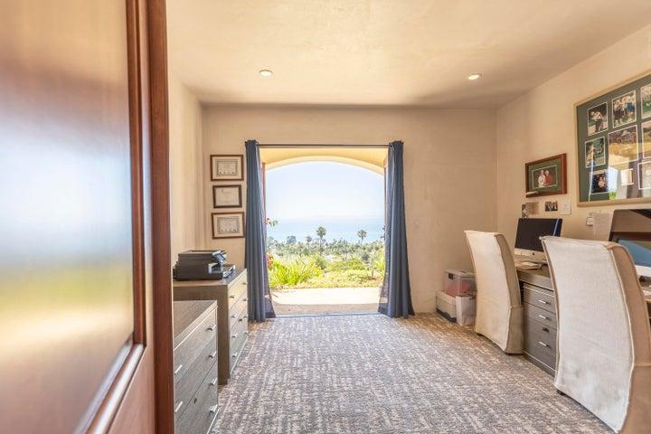 Office or bedroom with ocean views
