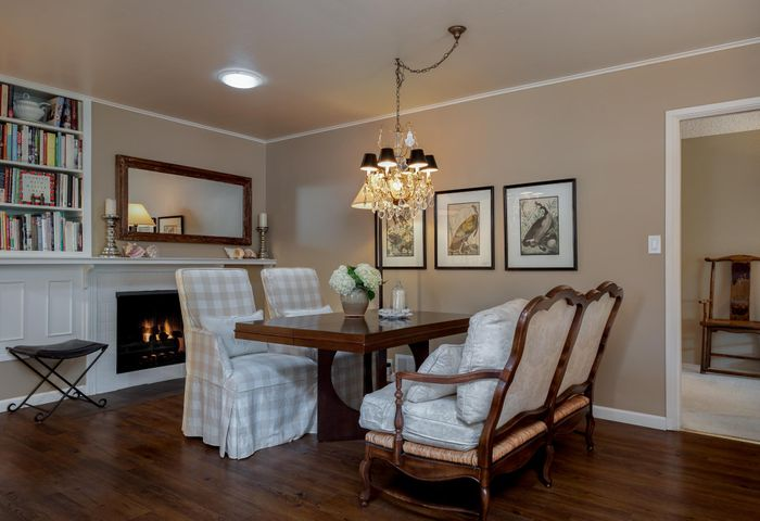 Breakfast Nook with Fireplace