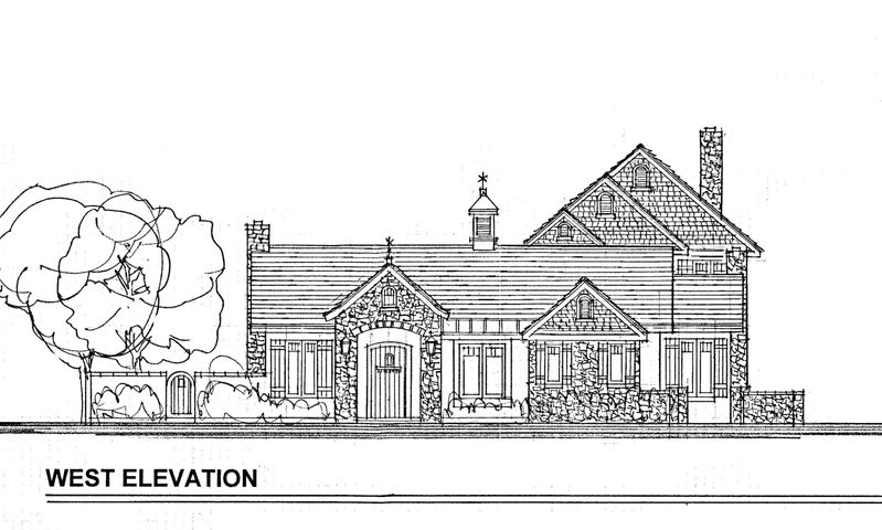 100 SY lot west elevation