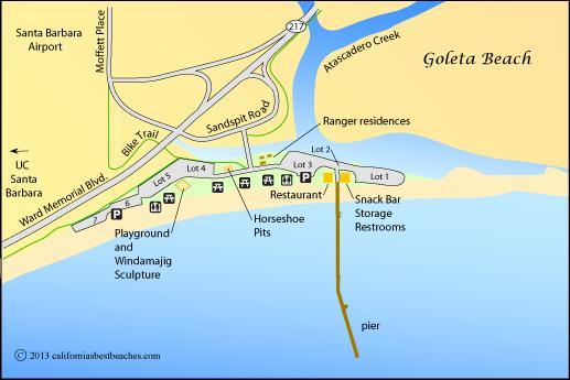 Goleta Beach Map