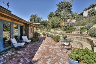 Rear brick patio & gardens