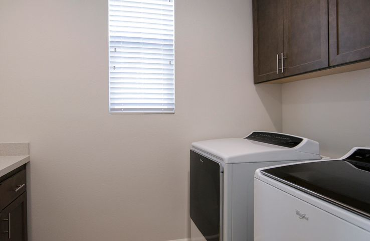 Upstairs formal laundry room
