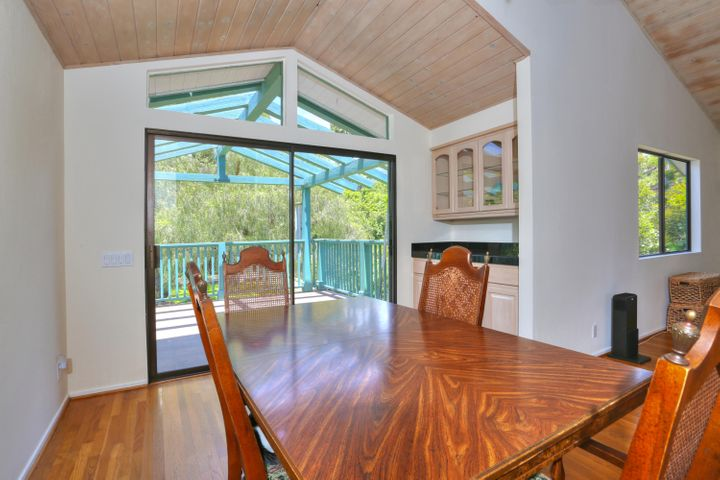 Dining room open to private deck