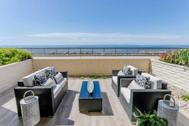 Oceanfront patio