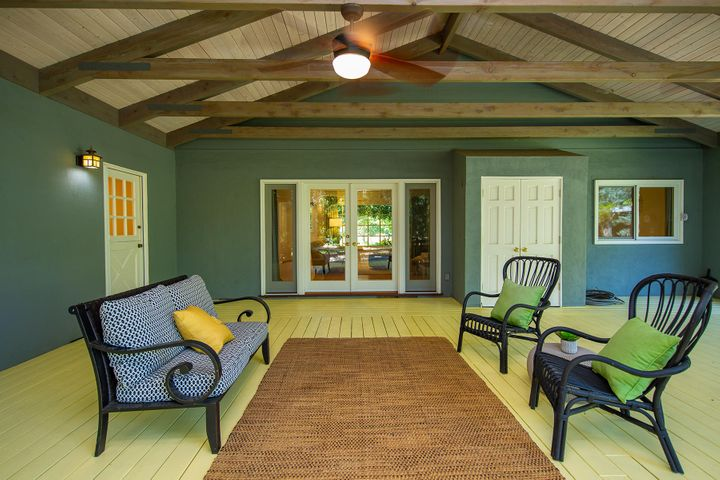Outdoor covered Wood Deck Patio
