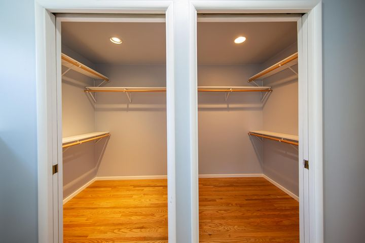His & Hers Walk-In Closets