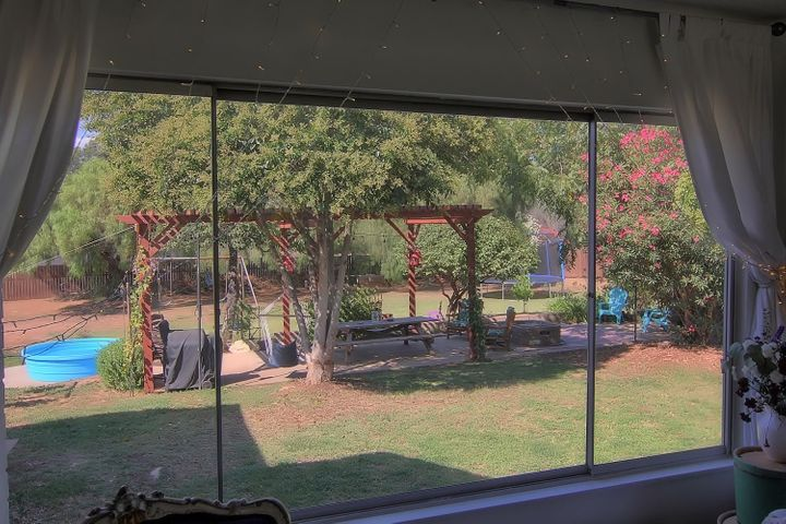 8. View from living room to back yard