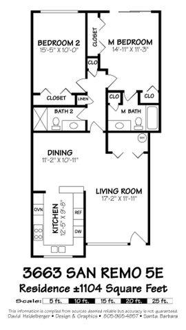 3663 San Remo 5E-  Floor Plan