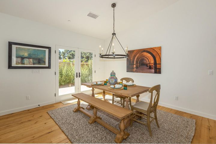 Dining area with own pation
