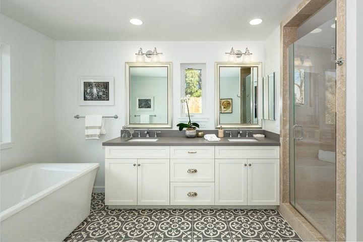 Master shower & vanity