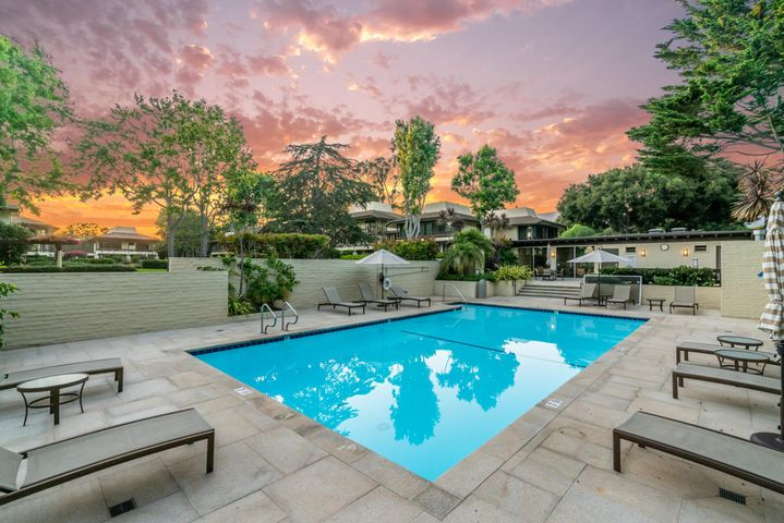 Community Pool at Sunset