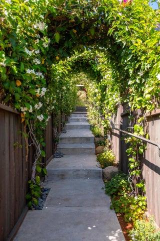 Fragrant walkway to the front door