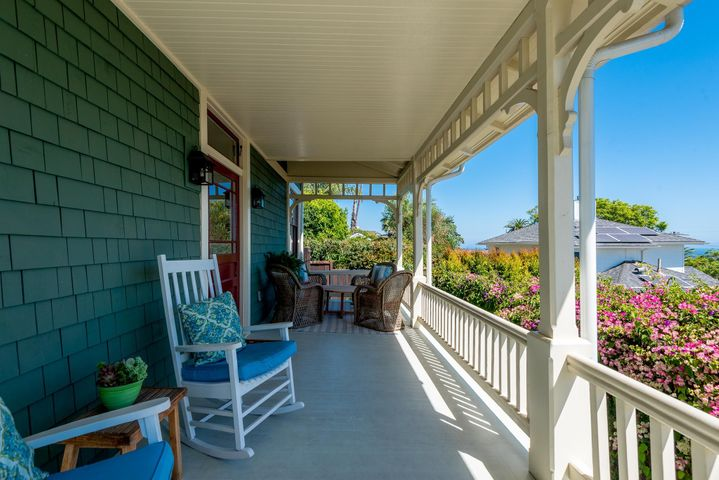 Charming Front ocean view porch
