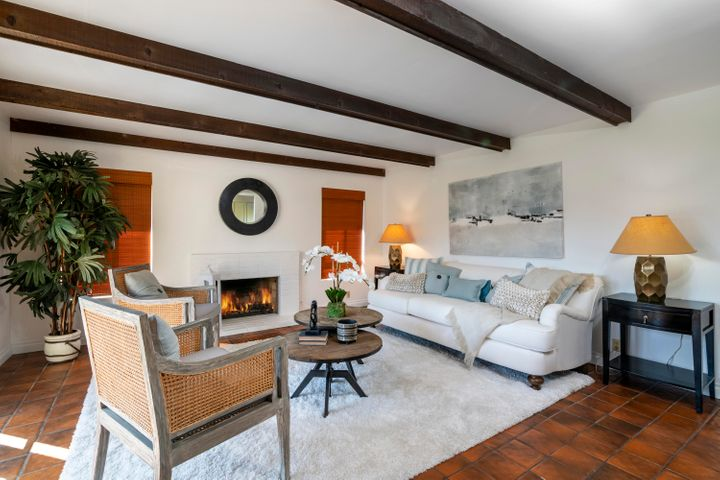 Den or Family Room with Fireplace