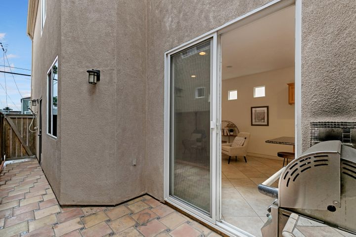 Patio with outdoor shower