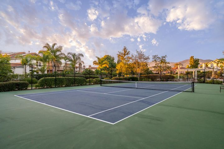 Tennis Courts with Clouds