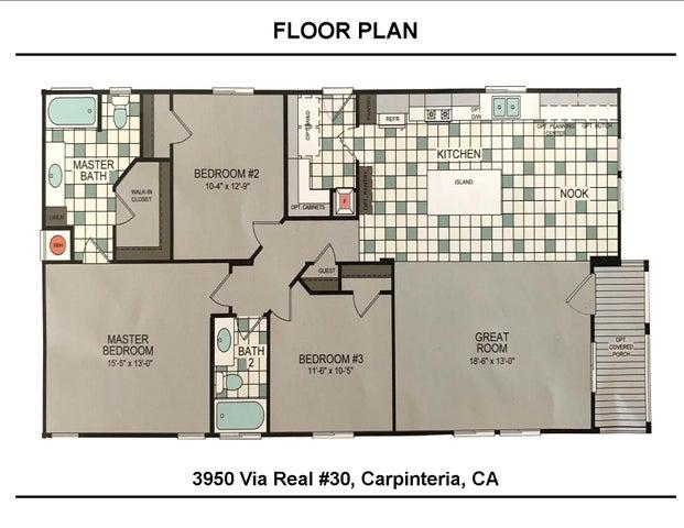 3950 Via Real #30  FloorPlan
