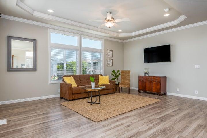 Laminate wood-style flooring
