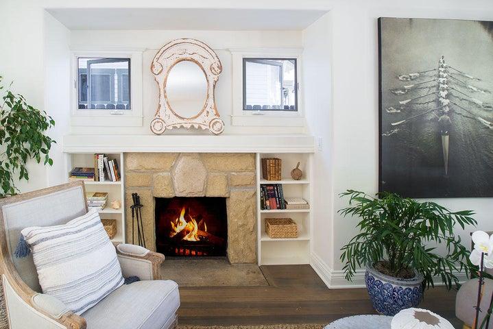 SB Sandstone Fireplace