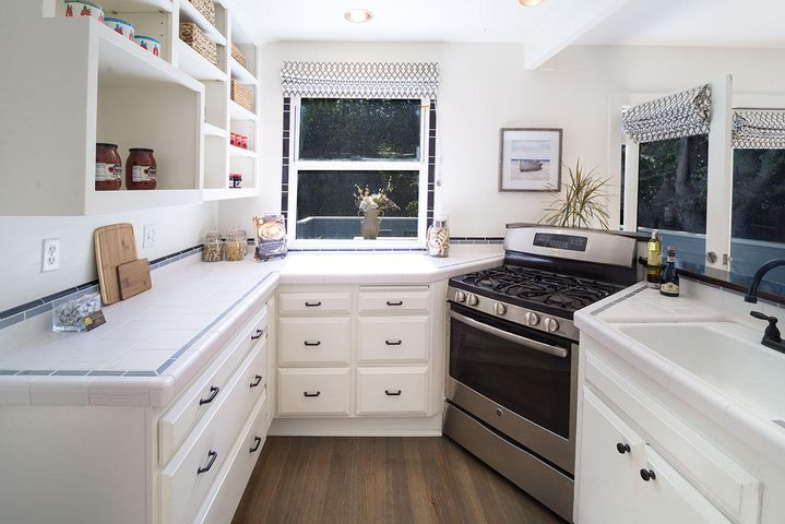 Kitchen with Backyard Views