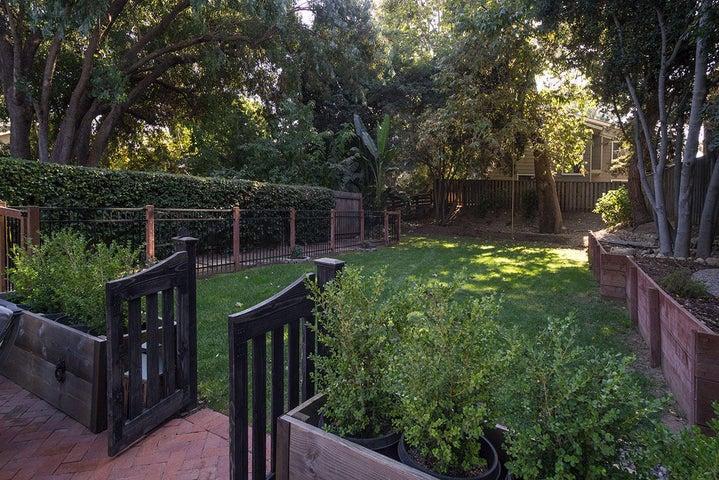 Huge private backyard