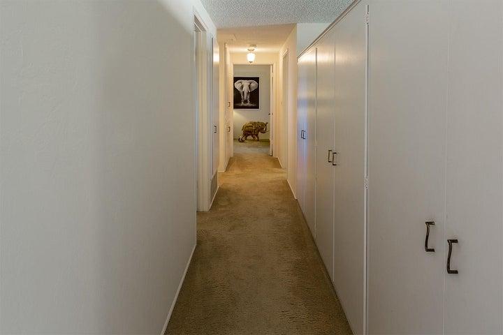 cupboards line hallway