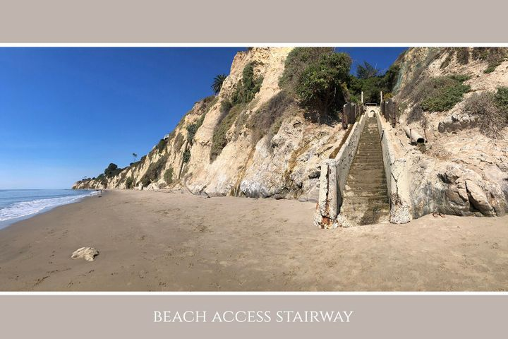 Beach stairway from beach