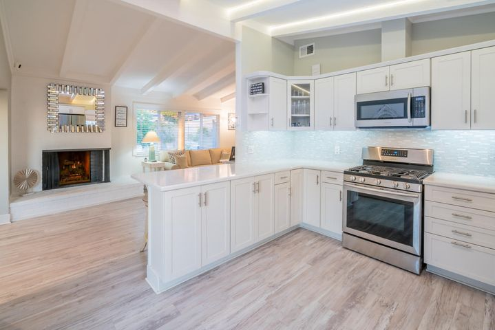 Kitchen towards living room