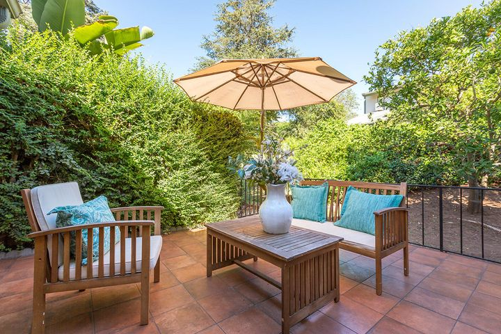 Private Tiled Patio