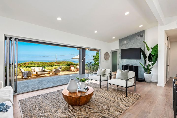 Welcome home to this beautifully remodeled, Mid-Century contemporary in Mission Canyon.