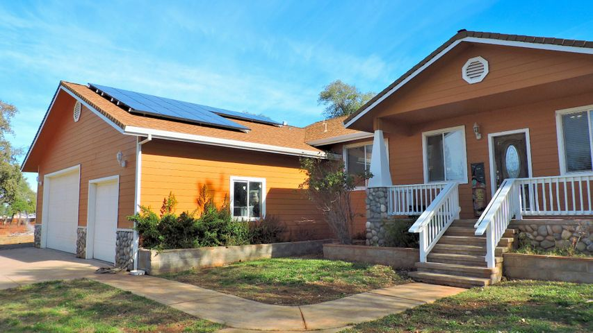 Front of home, solar panels