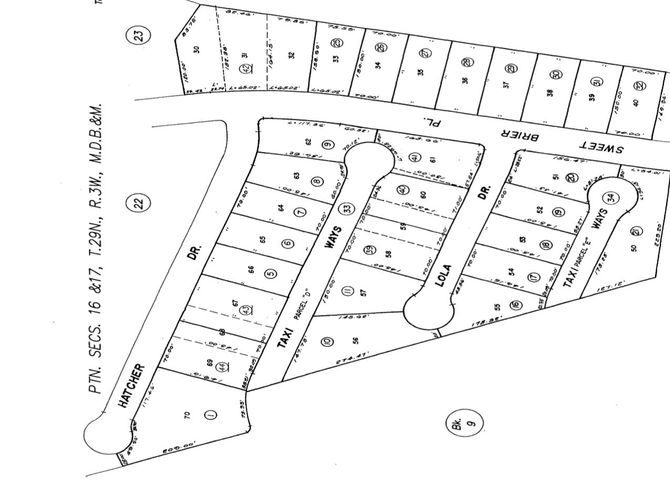 Plot Map: Lot 69 and half of 68