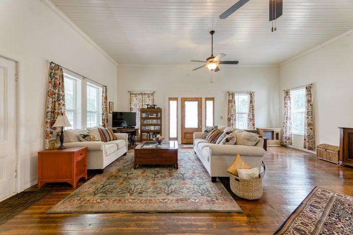 Original wood floors and high ceilings
