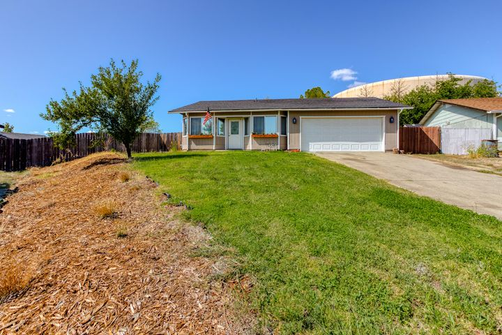 On a large, cul-de-sac lot and beautiful curb appeal.