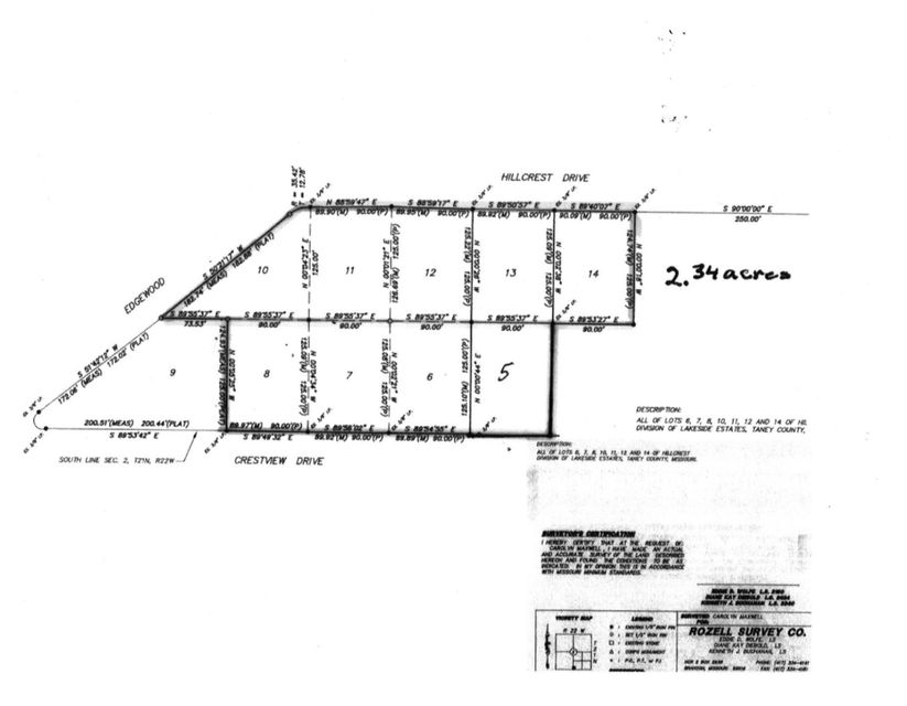 200-299 Crestview Drive #Lots 567810111213 Ridgedale, MO 65739