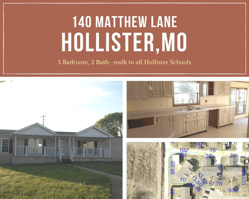 140  Matthew Lane Hollister, MO 65672