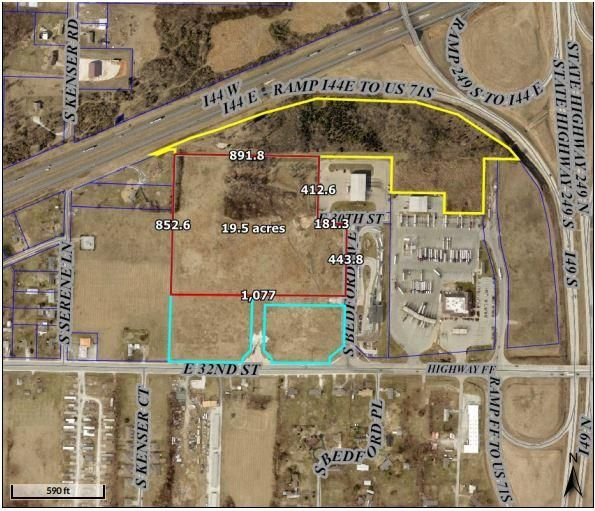 Lots and Land for sale – 19.5 Acres East 32nd St   Joplin, MO