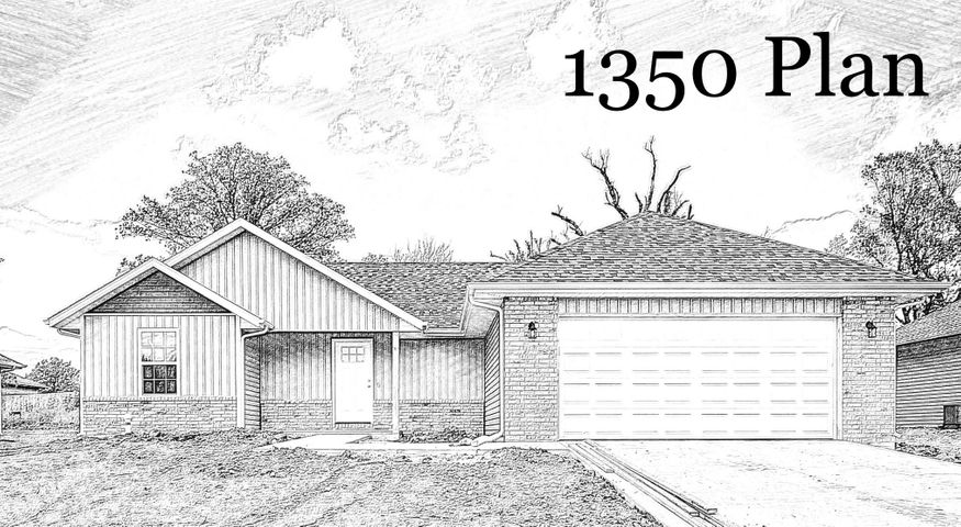 This is just a drawing. Actual house exterior could look different.