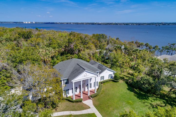 Aerial with Neighborhood Indian River Access, Community Dock