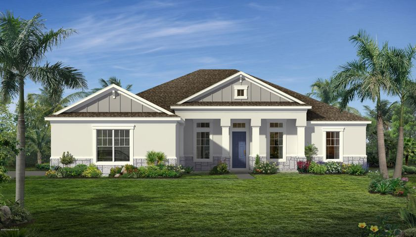 Rendering, not actual home. Side load garage shown.
