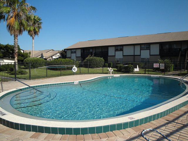 Beautiful pool is just steps from your rear patio!