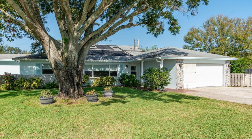 3 bedroom, 2 bath, 2 car garage home with large family room, screened porch and solar heated pool.