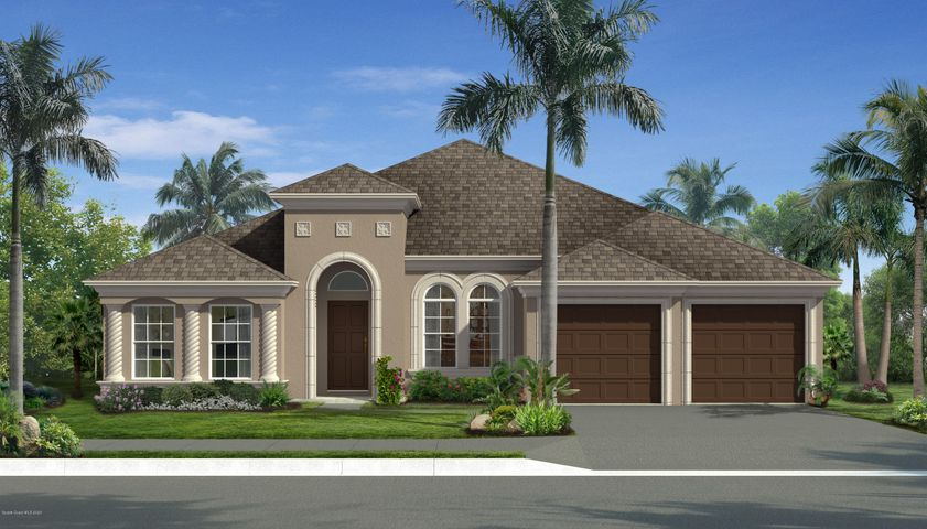 This is a rendering of the home under construction.